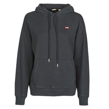 Kleidung Damen Sweatshirts Levi's STANDARD HOODIE Schwarz