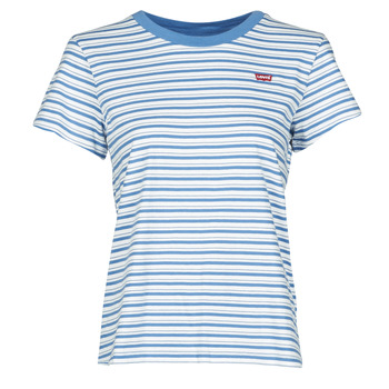 Kleidung Damen T-Shirts Levi's PERFECT TEE Silphium / Colony / Blau