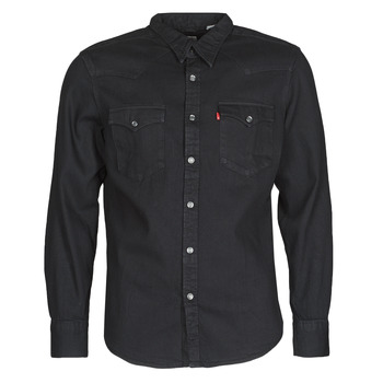 Kleidung Herren Langärmelige Hemden Levi's BARSTOW WESTERN STANDARD Schwarz