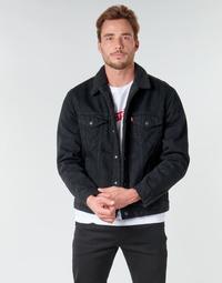 Kleidung Herren Jeansjacken Levi's TYPE 3 SHERPA TRUCKER Schwarz