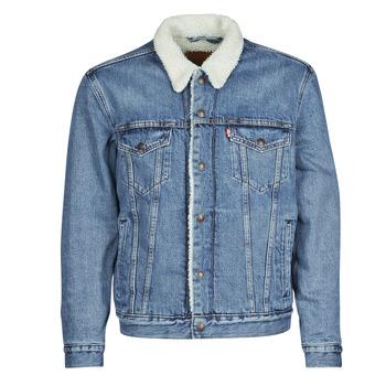 Kleidung Herren Jeansjacken Levi's TYPE 3 SHERPA TRUCKER Blau