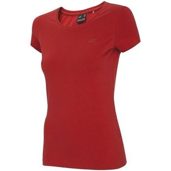 Kleidung Damen T-Shirts 4F NOSH4 TSD001 Rot