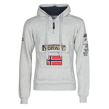 Kleidung Herren Sweatshirts Geographical Norway GYMCLASS Grau / Vichy schwarz