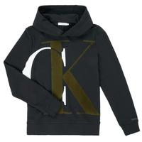 Kleidung Jungen Sweatshirts Calvin Klein Jeans IB0IB00628-BEH Schwarz