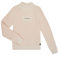 Kleidung Mädchen Pullover Calvin Klein Jeans IG0IG00680-PGB Grau