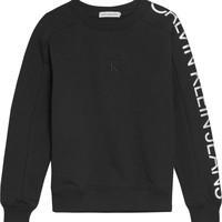 Kleidung Mädchen Sweatshirts Calvin Klein Jeans IG0IG00691-BEH Schwarz