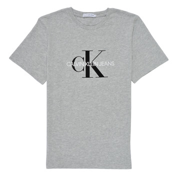 Kleidung Kinder T-Shirts Calvin Klein Jeans MONOGRAM Grau