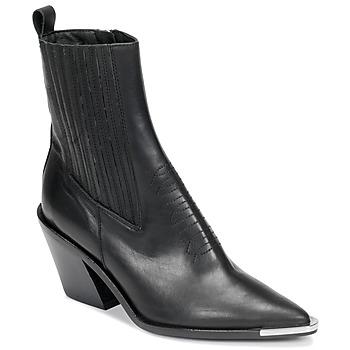 Schuhe Damen Low Boots Jonak BINGO Schwarz