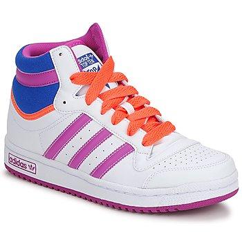Schuhe Mädchen Sneaker High adidas Originals TOPTEN HI K Weiss / Rose / Blau