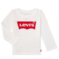 Kleidung Mädchen Langarmshirts Levi's BATWING TEE LS Weiss