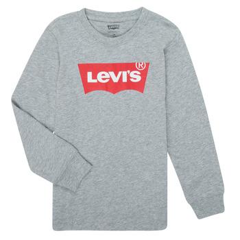 Kleidung Jungen Langarmshirts Levi's BATWING TEE LS Grau