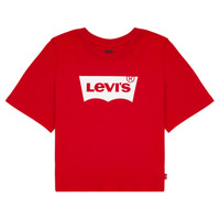 Kleidung Mädchen T-Shirts Levi's LIGHT BRIGHT CROPPED TEE Rot