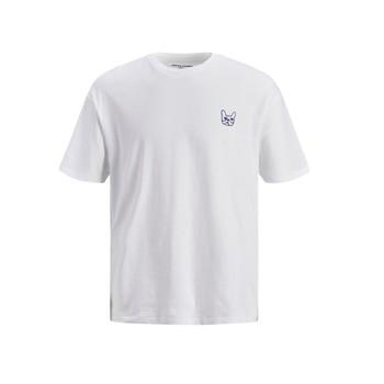 Kleidung Jungen T-Shirts Jack & Jones JJAARHUS TEE Weiss
