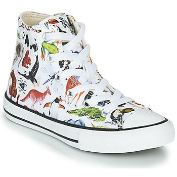 Schuhe Kinder Sneaker High Converse CHUCK TAYLOR ALL STAR - HI Weiss / Multicolor