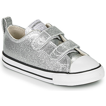 Schuhe Mädchen Sneaker Low Converse CHUCK TAYLOR ALL STAR 2V - COATED GLITTER Silbern