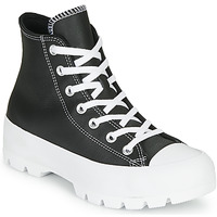 Schuhe Damen Sneaker High Converse CHUCK TAYLOR ALL STAR LUGGED - FOUNDATIONAL LEATHER Schwarz