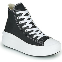 Schuhe Damen Sneaker High Converse Chuck Taylor All Star Move Canvas Color Hi Schwarz