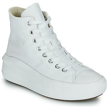 Schuhe Damen Sneaker High Converse Chuck Taylor All Star Move Canvas Color Hi Weiss