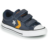 Schuhe Jungen Sneaker Low Converse Star Player 3V - Leather Twist Blau / Senf