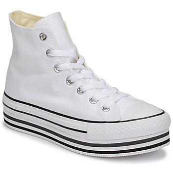 Schuhe Damen Sneaker High Converse CHUCK TAYLOR ALL STAR PLATFORM EVA LAYER CANVAS HI Weiss