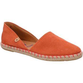 Schuhe Damen Leinen-Pantoletten mit gefloch Verbenas Slipper Espa. coral 058SCC-0009-0237 orange