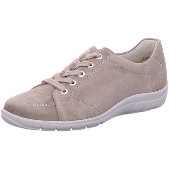 Schuhe Damen Sneaker Low Semler Schnuerschuhe SAMT-CHEVRO M8505042/028 beige