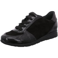 Schuhe Damen Sneaker Low Semler Schnuerschuhe K-L/S-CHEV/S-N. N8215586/001 schwarz