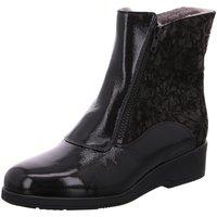 Schuhe Damen Schneestiefel Semler Stiefeletten K-LACK/FLOWER-PRINT S17464522/001 schwarz