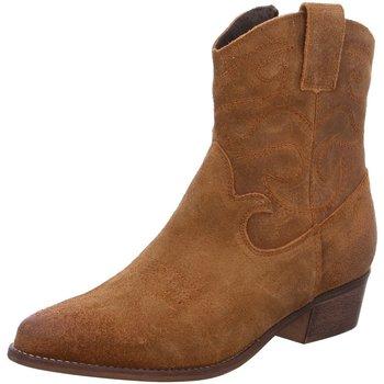 Schuhe Damen Low Boots Divina Stiefeletten Poelmann R13727 caramel braun