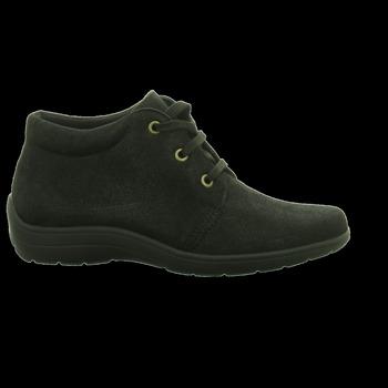 Schuhe Damen Boots Longo Schnuerschuhe -Kn.Schnürer schwarz