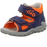 Schuhe Jungen Babyschuhe Superfit Sandalen Flow Blau/Orange Velour 6-09011-81 81 blau