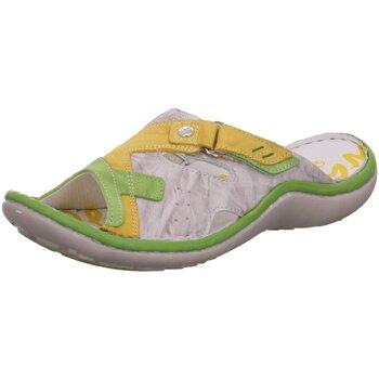 Schuhe Damen Pantoletten / Clogs Krisbut Pantoletten 7032-1 gelb