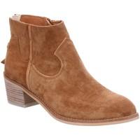 Schuhe Damen Boots Alpe Stiefeletten Kurze Stiefelette im Cowboy-Stil 4011-81-01 braun