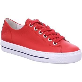 Schuhe Damen Sneaker Low Paul Green Schnuerschuhe 4704-036 rot
