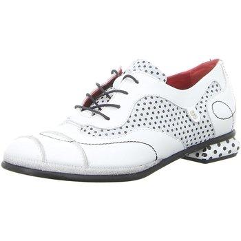 Schuhe Damen Derby-Schuhe Simen Schnuerschuhe 2926A WEISS weiß