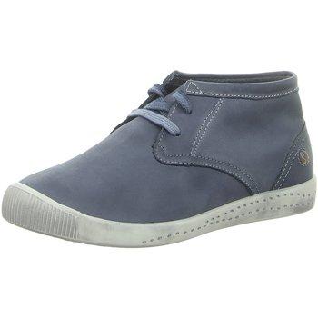 Schuhe Damen Boots Softinos Schnuerschuhe P900161538 blau