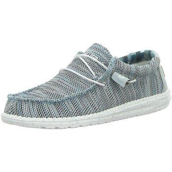 Schuhe Herren Sneaker Low Hey Dude Shoes Schnuerschuhe Wally Sox Sneaker 11035-0127-Wally-Sox grau