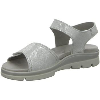 Schuhe Damen Sandalen / Sandaletten Longo Sandaletten Bequem-Sandalette,ice crack 1045382 silber