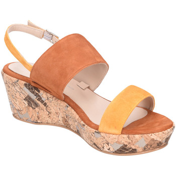 Schuhe Damen Sandalen / Sandaletten Brenda Zaro Sandaletten Tomy Yellow Cognac Suede TZ3376A TOMY orange