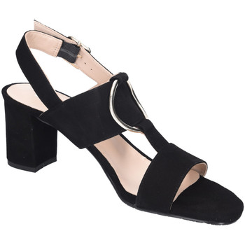 Schuhe Damen Sandalen / Sandaletten Brenda Zaro Sandaletten T3586 suede negro schwarz