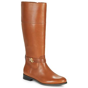 Schuhe Damen Klassische Stiefel Lauren Ralph Lauren BAYLEE Cognac