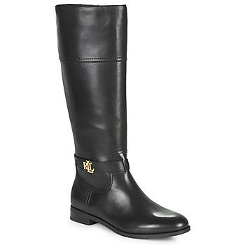 Schuhe Damen Klassische Stiefel Lauren Ralph Lauren BAYLEE Schwarz