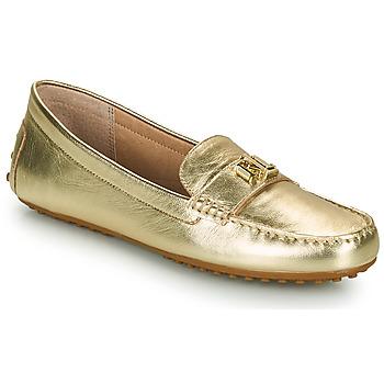Schuhe Damen Slipper Lauren Ralph Lauren BARNSBURY FLATS CASUAL Gold