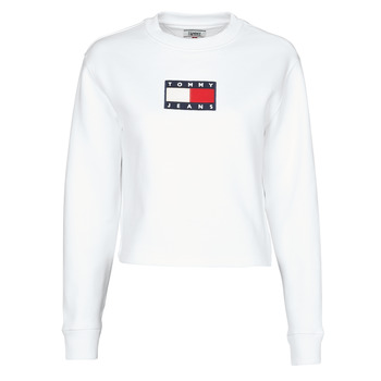 Kleidung Damen Sweatshirts Tommy Jeans TJW TOMMY FLAG CREW Weiss