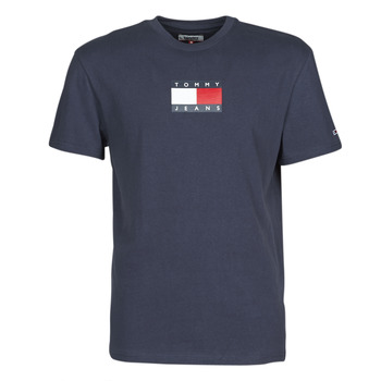 Kleidung Herren T-Shirts Tommy Jeans TJM SMALL FLAG TEE Marine