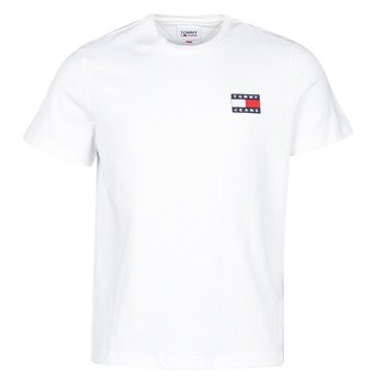 Kleidung Herren T-Shirts Tommy Jeans TJM TOMMY BADGE TEE Weiss