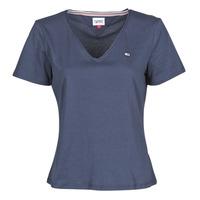 Kleidung Damen T-Shirts Tommy Jeans TJW SLIM JERSEY V NECK Marine