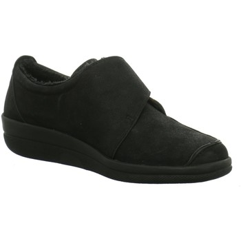 Schuhe Damen Slipper Longo Slipper Klettslipper 1005300 schwarz