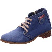 Schuhe Damen Stiefel Artiker Stiefeletten Schnürstiefel 42C0224 blau