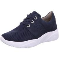 Schuhe Damen Sneaker Low Solidus Schnuerschuhe Kea 66500 80341 6650080341 blau